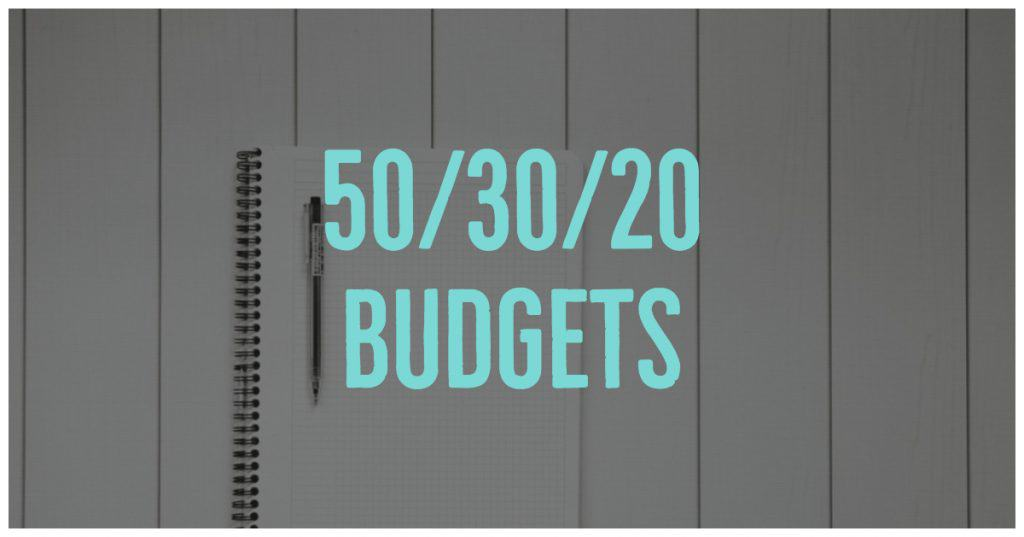 50/30/20 Budgets Keep your spending in line by splitting your spending into needs/savings/wants.