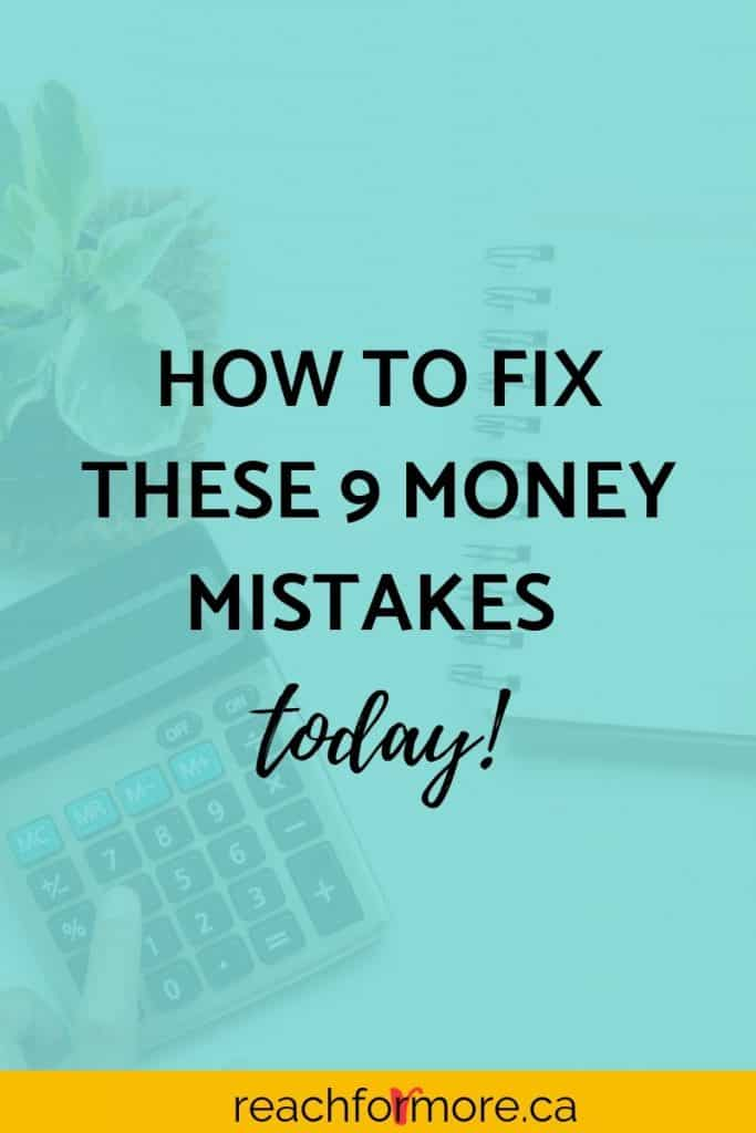 Learn now which 9 money mistakes you might be making and how to fix them today! The faster you read this, the sooner you can get started winning with your money!
