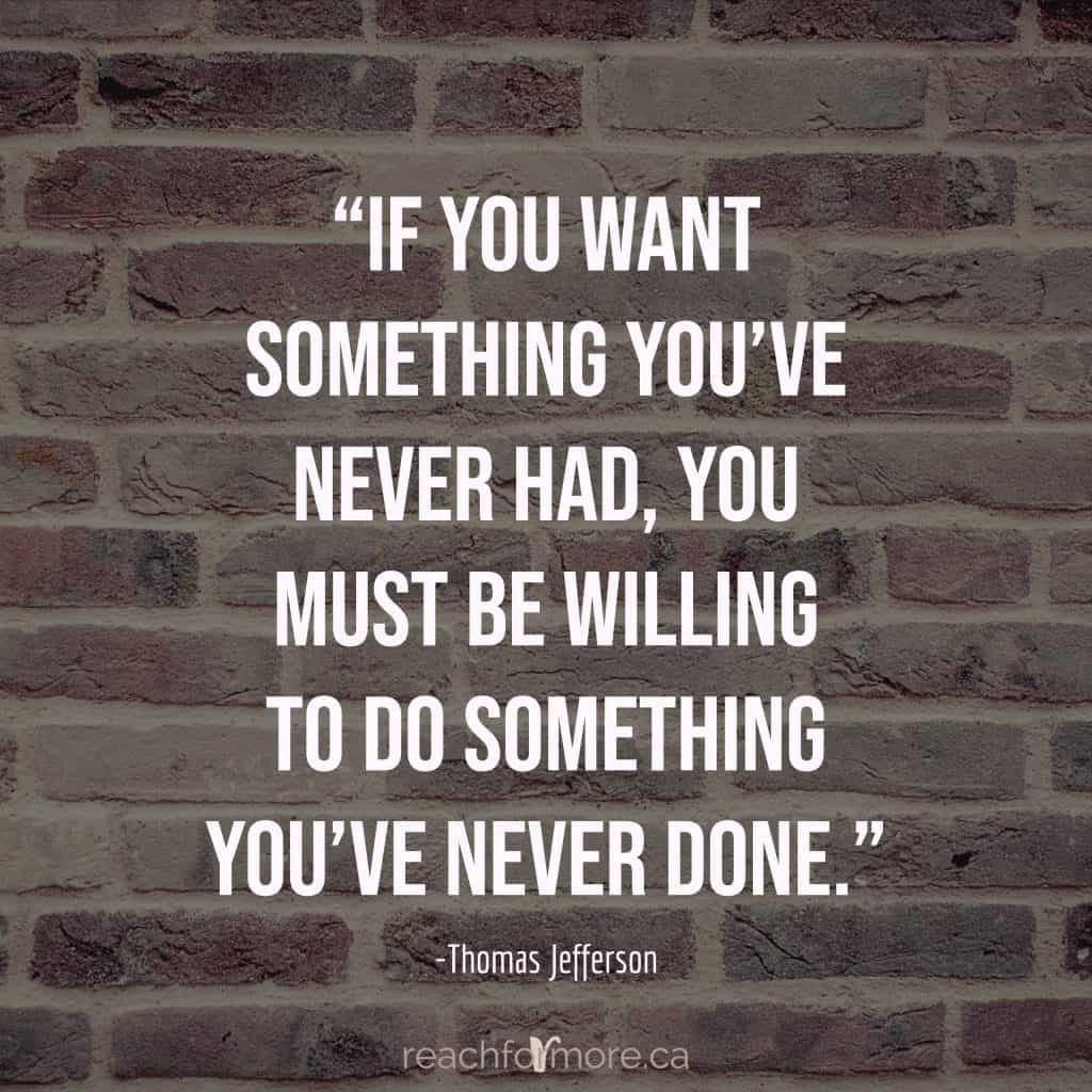 """""""If you want something you've never had, you must be willing to do something you've never done."""" -Thomas Jefferson  Inspirational quote for when money habits are holding you back!"""