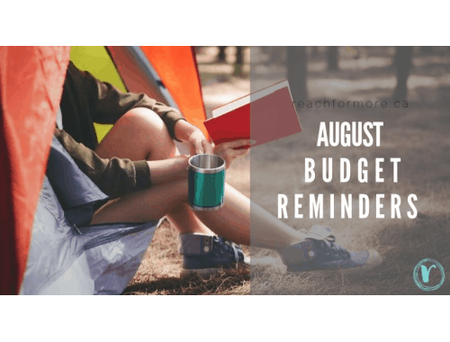 August budget reminders to keep you focused and intentional heading into the new month!