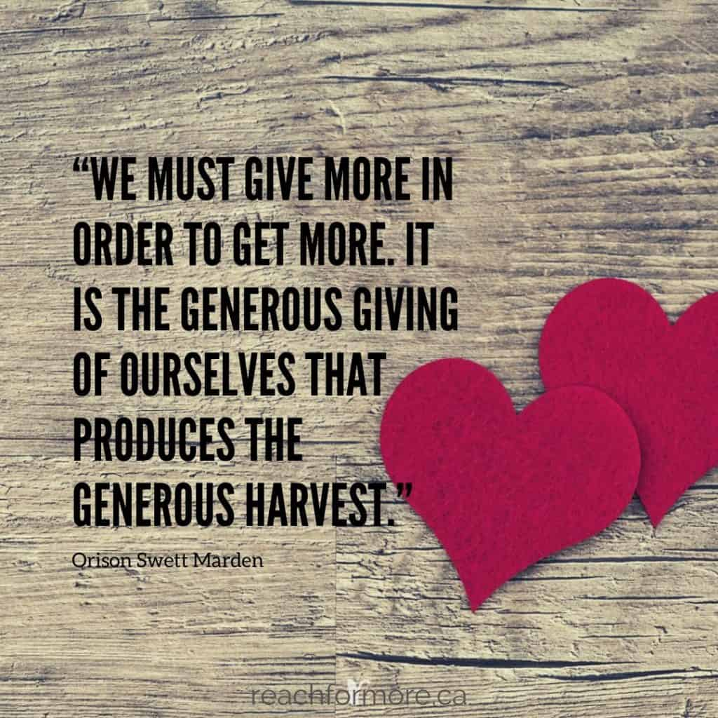 """""""We must give more in order to get more. It is the generous giving of ourselves that produces the generous harvest"""" - Orison Swett Marden  November Budget Reminders"""