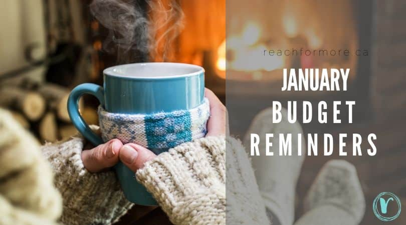 january budget reminders