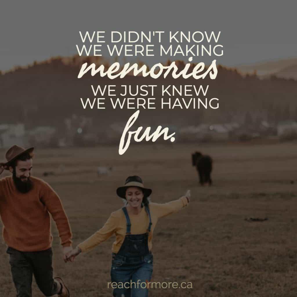 """We didn't know we were making memories, we just knew we were having fun"" Budget-friendly Valentines ideas"