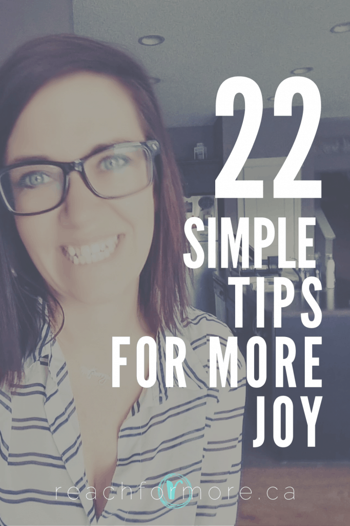 How to live your life with more joy