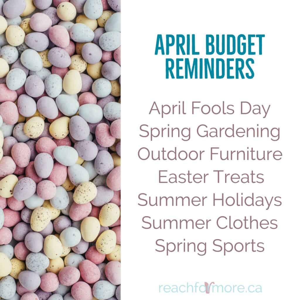 april budget reminders