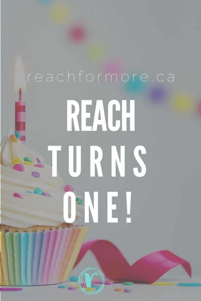 We are celebrating - REACH turns one!!!