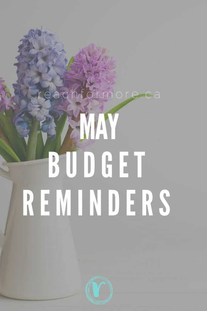 May budget reminders at your finger tips!