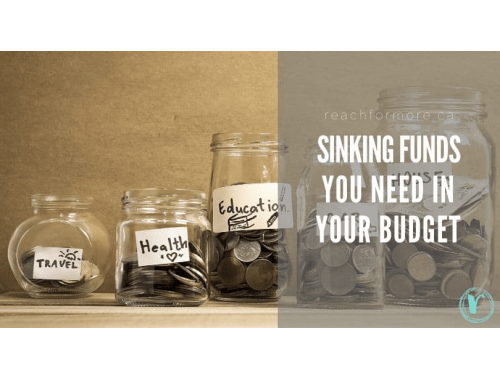 Sinking Fund List to help you save more money