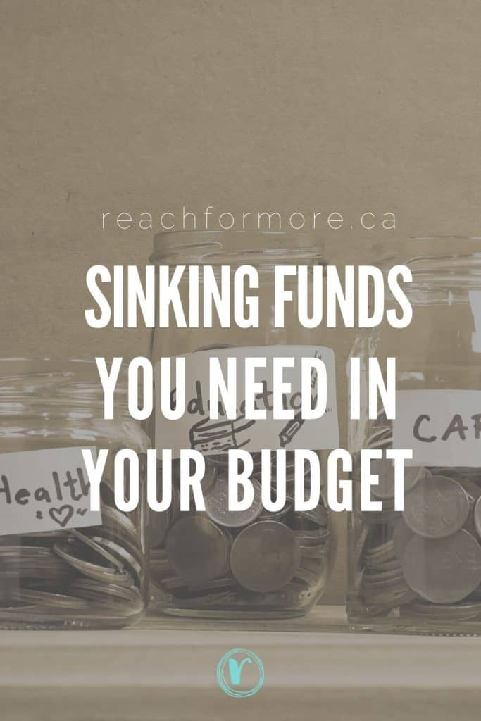 Use these sinking funds to save more money